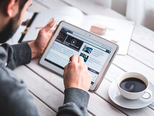 Smartphone para la gestión de contenidos
