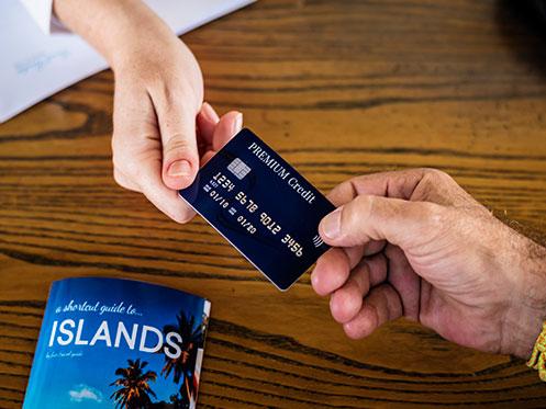 Compra de producto turístico con tarjeta